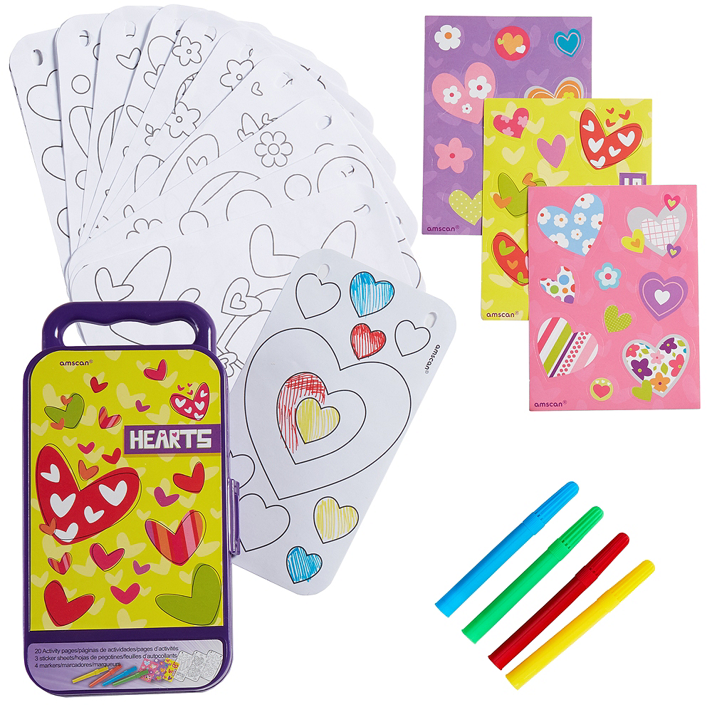 Hearts Sticker Activity Box Image #1
