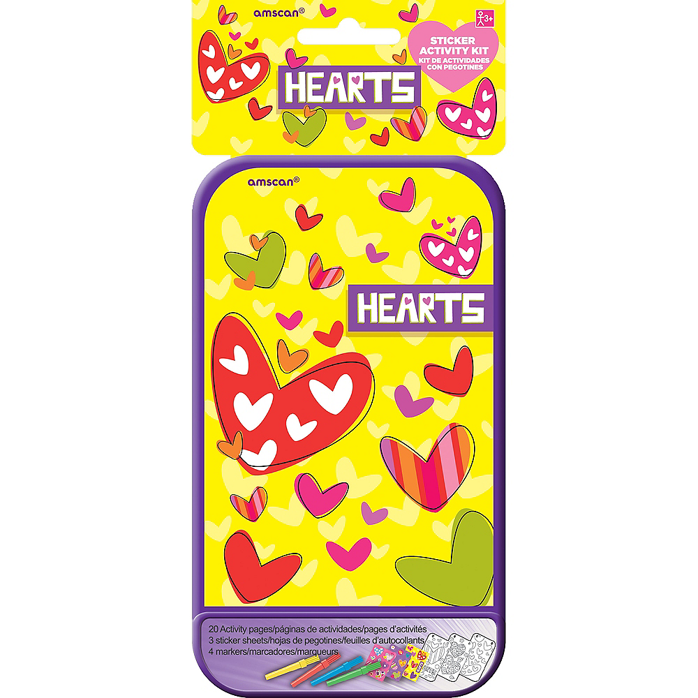 Hearts Sticker Activity Box Image #2