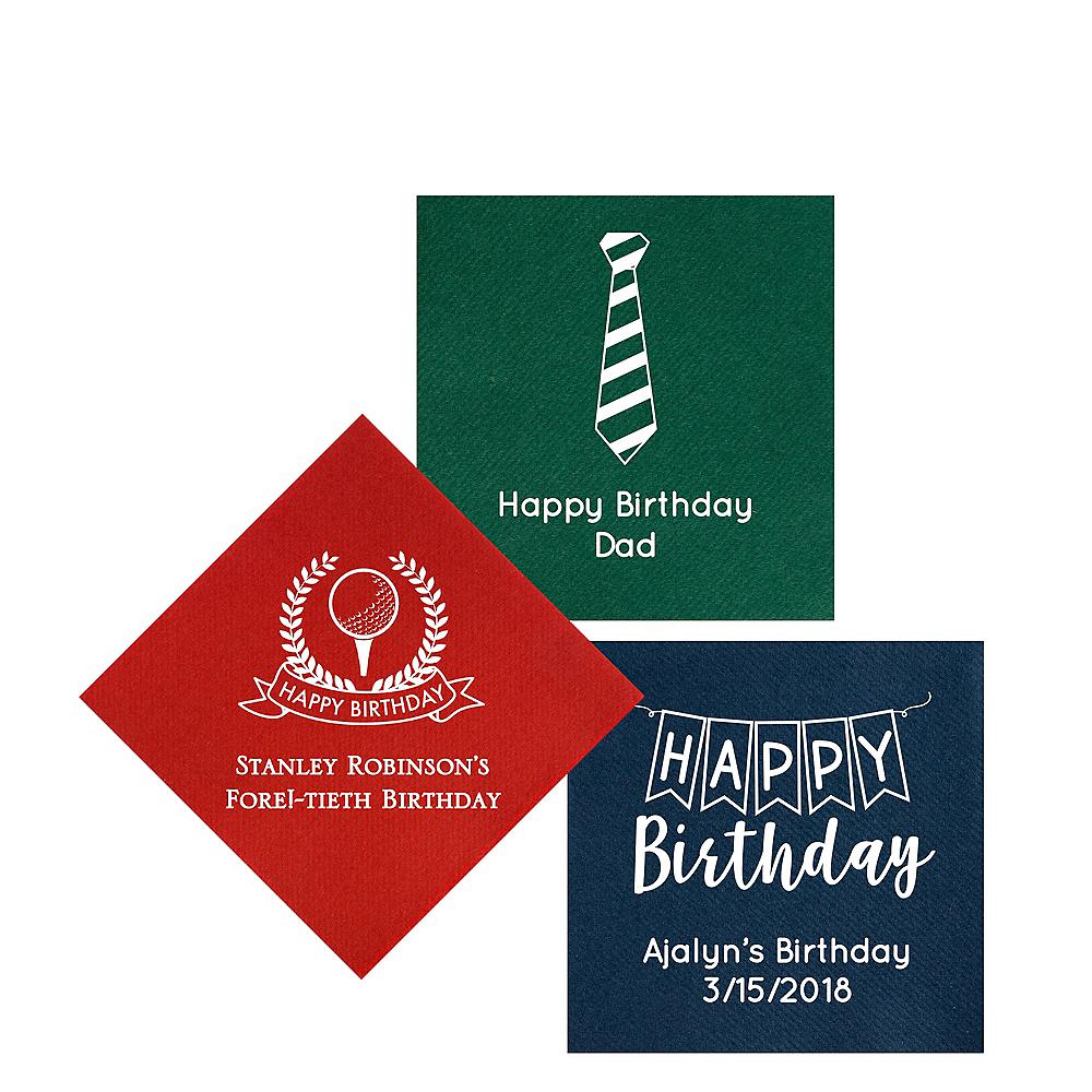 Personalized Birthday Premium Beverage Napkins Image #1