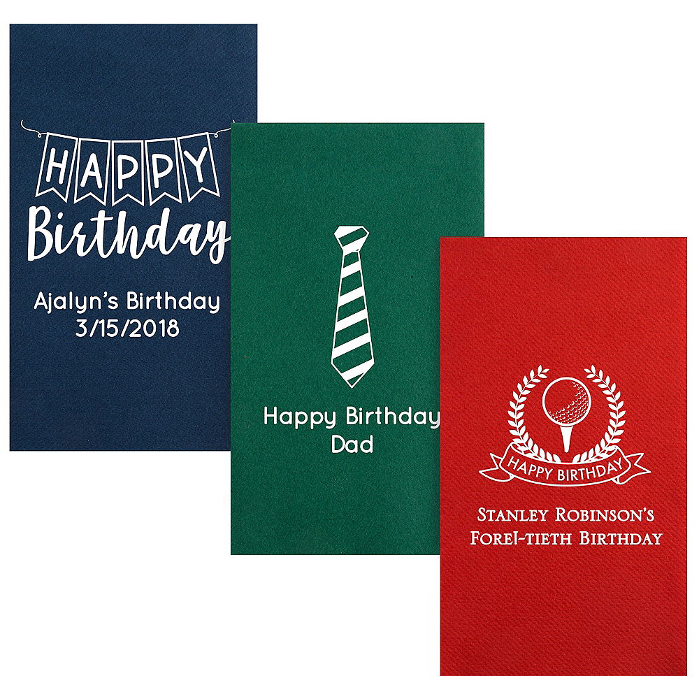 Personalized Birthday Premium Guest Towels Image #1
