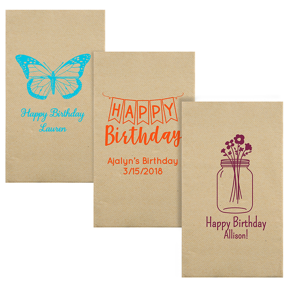 Personalized Birthday Eco-Friendly Guest Towels Image #1