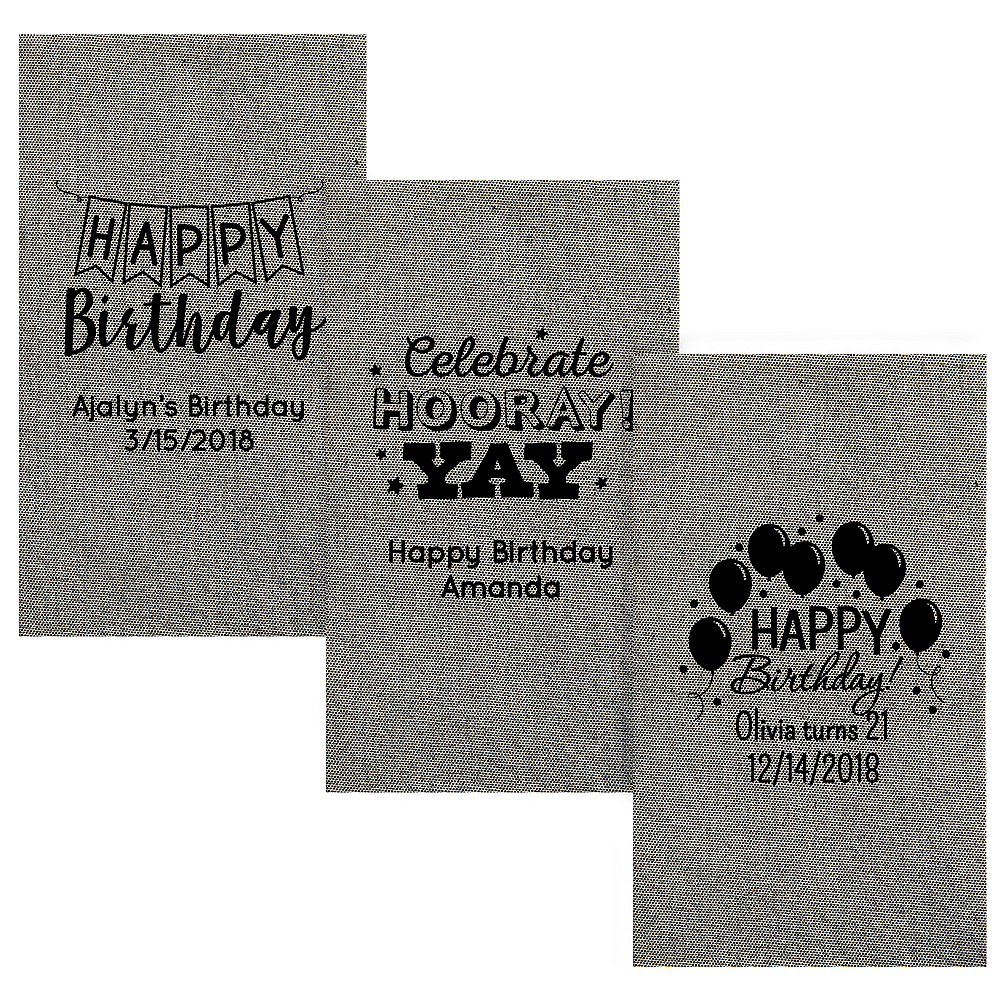 Personalized Birthday Tweed Print Guest Towels Image #1