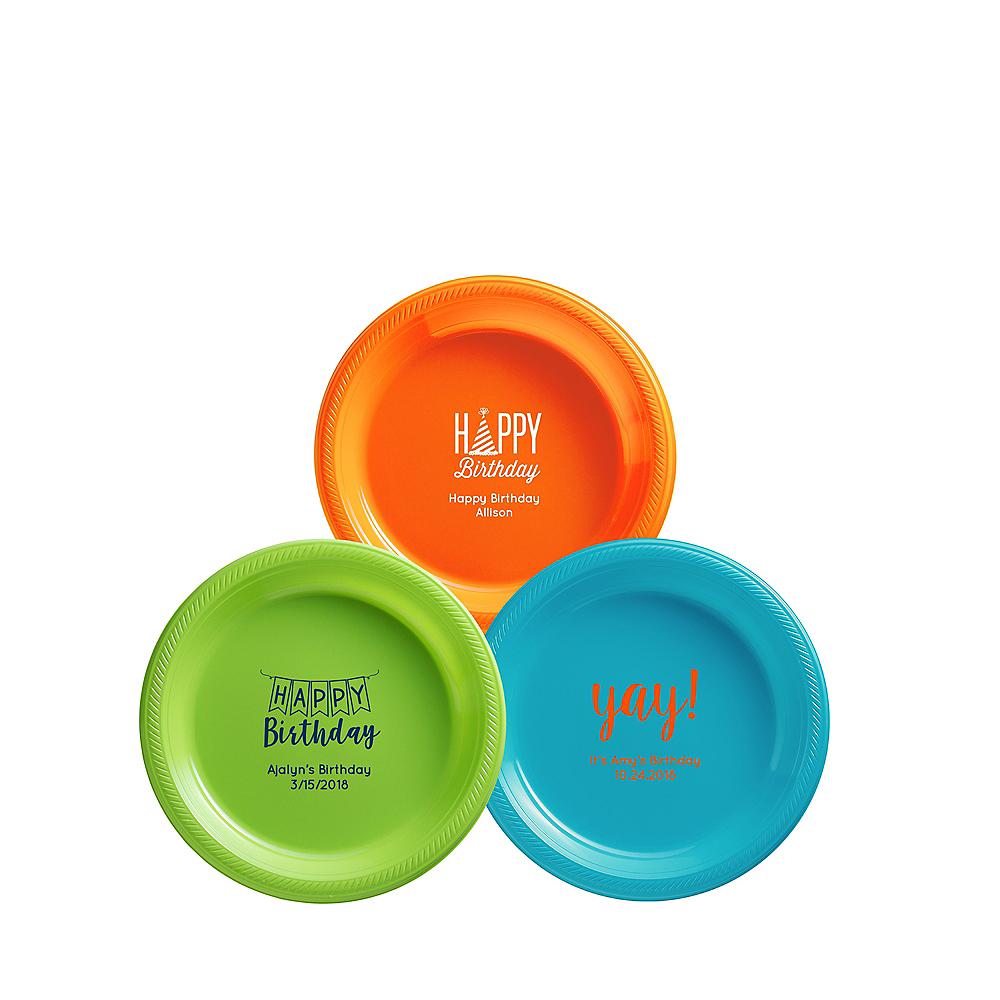 Personalized Birthday Plastic Dessert Plates Image #1