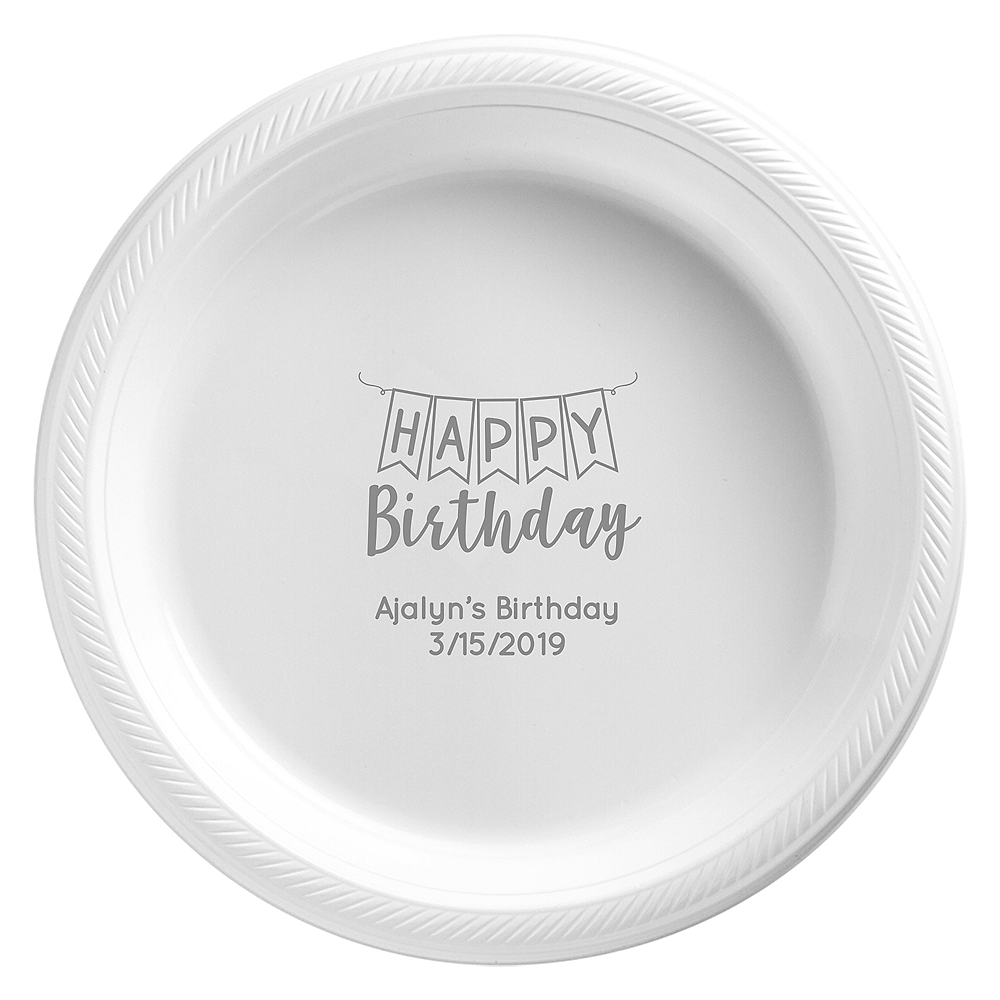 Personalized Birthday Plastic Dinner Plates Image #1