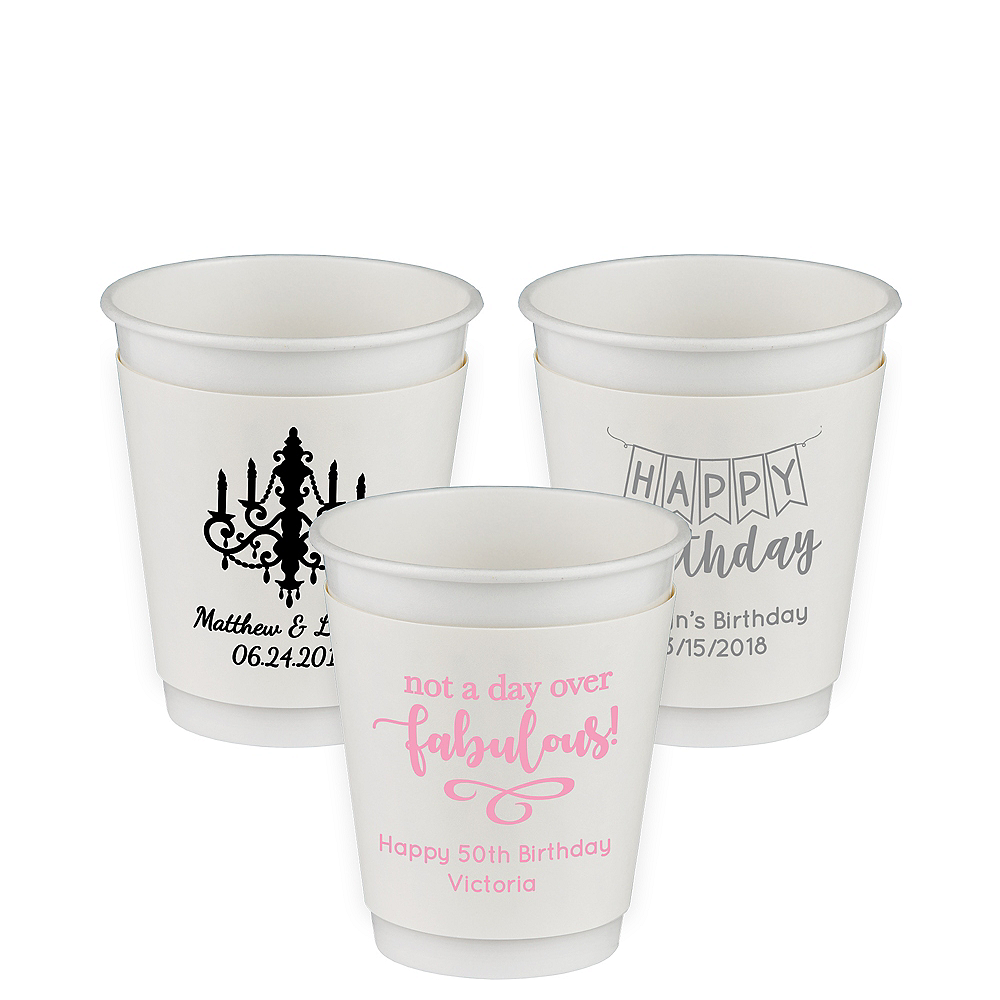 Personalized Birthday Insulated Paper Cups 12oz Image #1