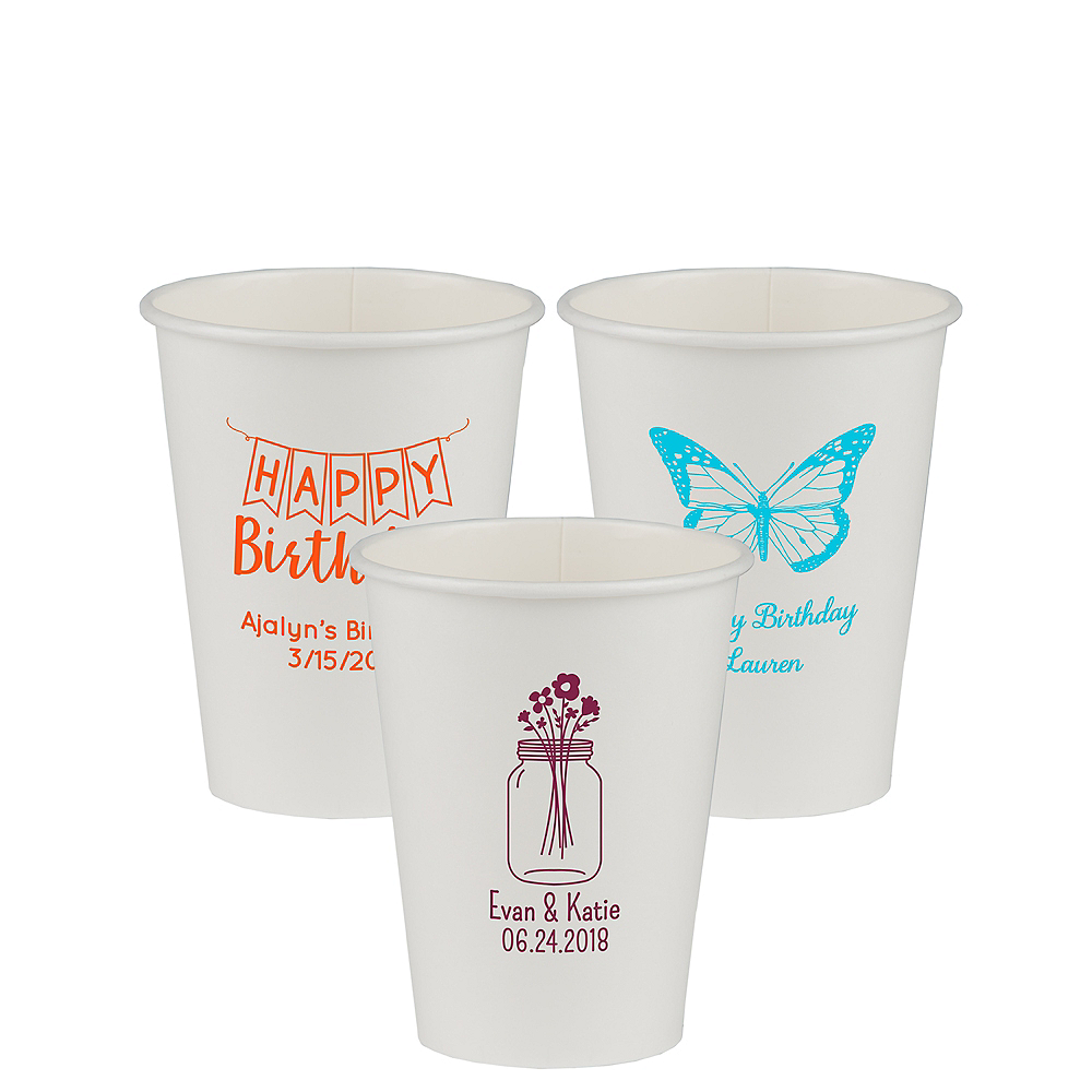 Personalized Birthday Paper Cups 12oz Image #1