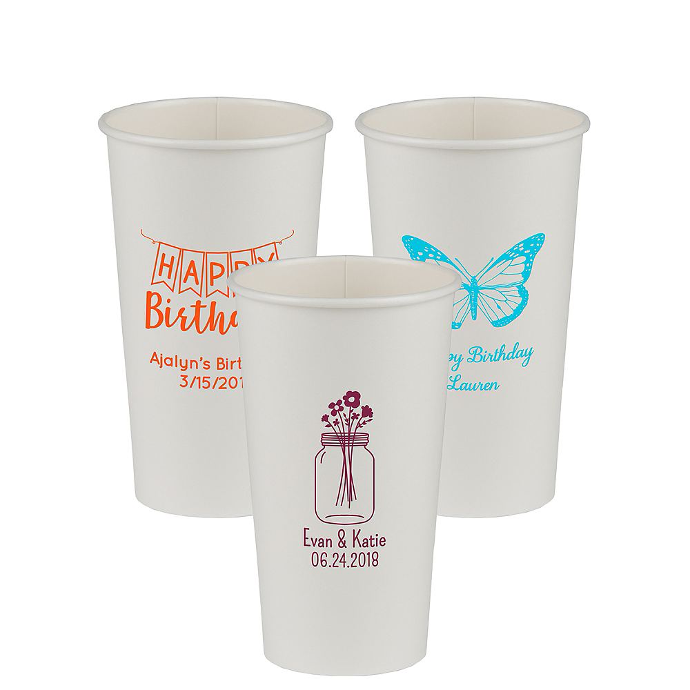 Personalized Birthday Paper Cups 20oz Image #1