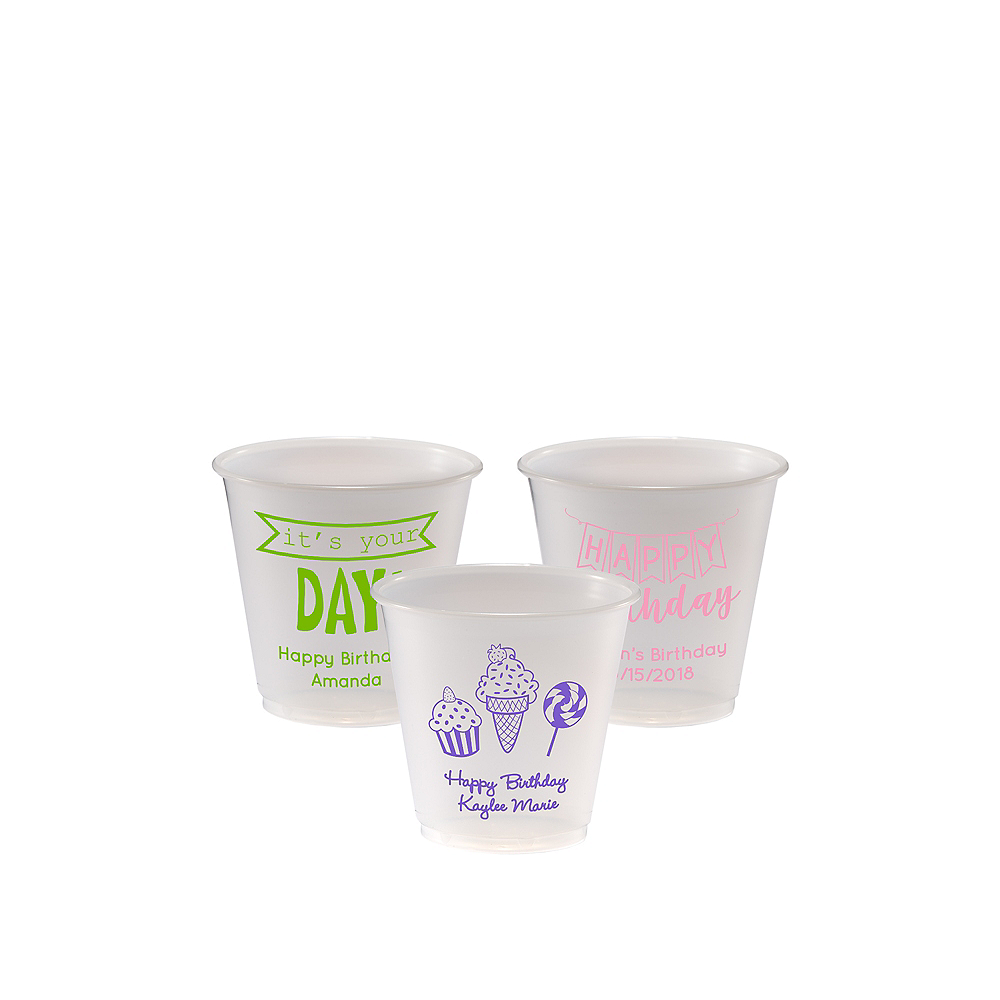 Personalized Birthday Plastic Party Cups 3.5oz Image #1