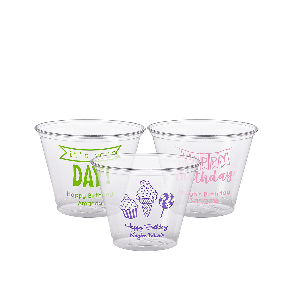 Personalized Birthday Plastic Party Cups 9oz Image #1