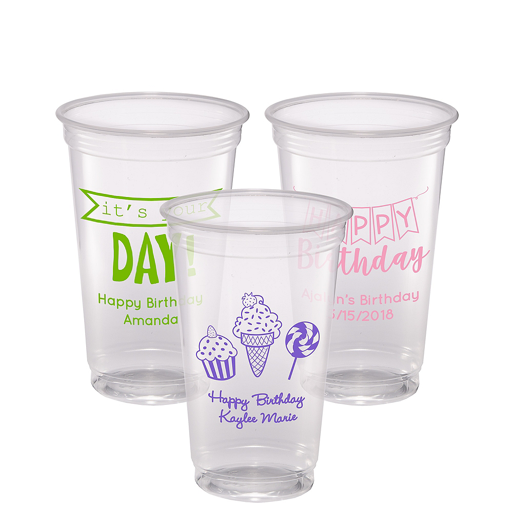 Personalized Birthday Plastic Party Cups 20oz Image #1