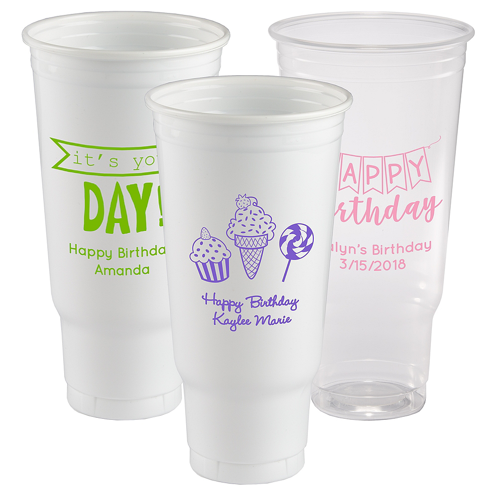 Personalized Birthday Plastic Party Cups 44oz Image #1