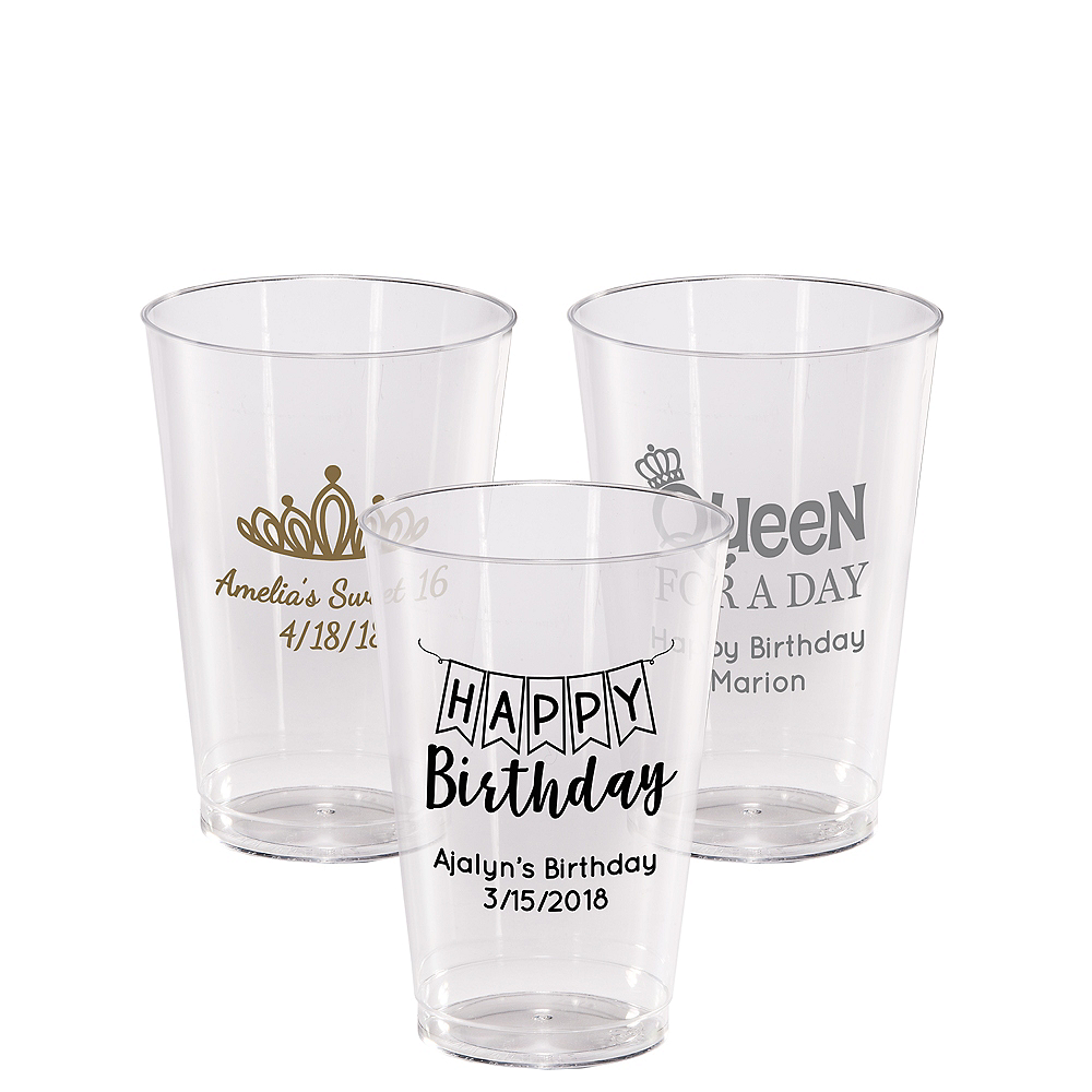 Personalized Birthday Hard Plastic Cups 14oz Image #1