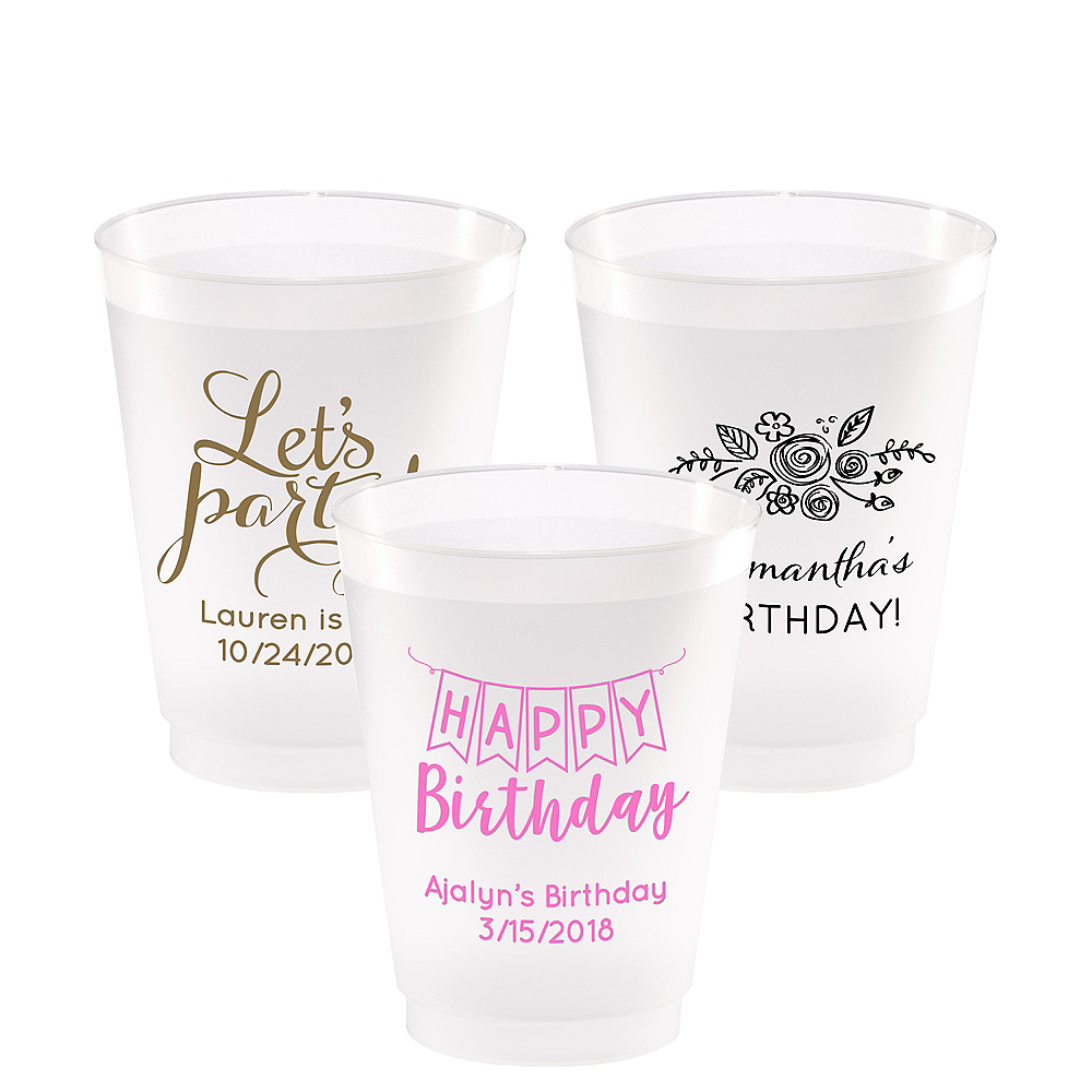 Personalized Birthday Frosted Plastic