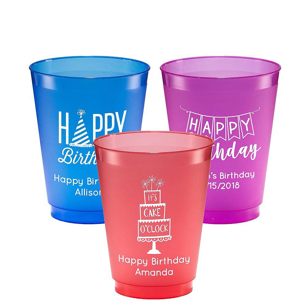 Personalized Birthday Plastic Shatterproof Cups 16oz Image #1