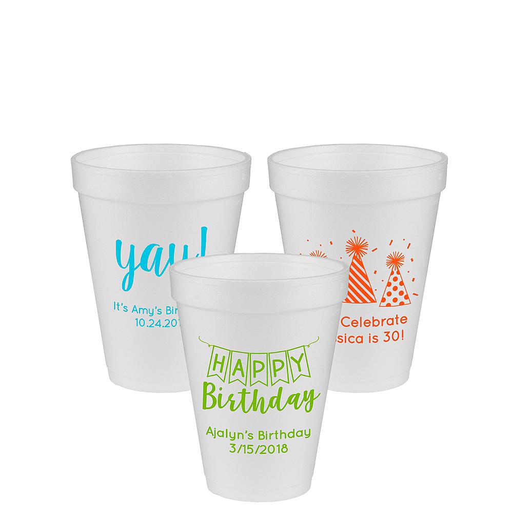 Personalized Birthday Foam Cups 12oz Image #1