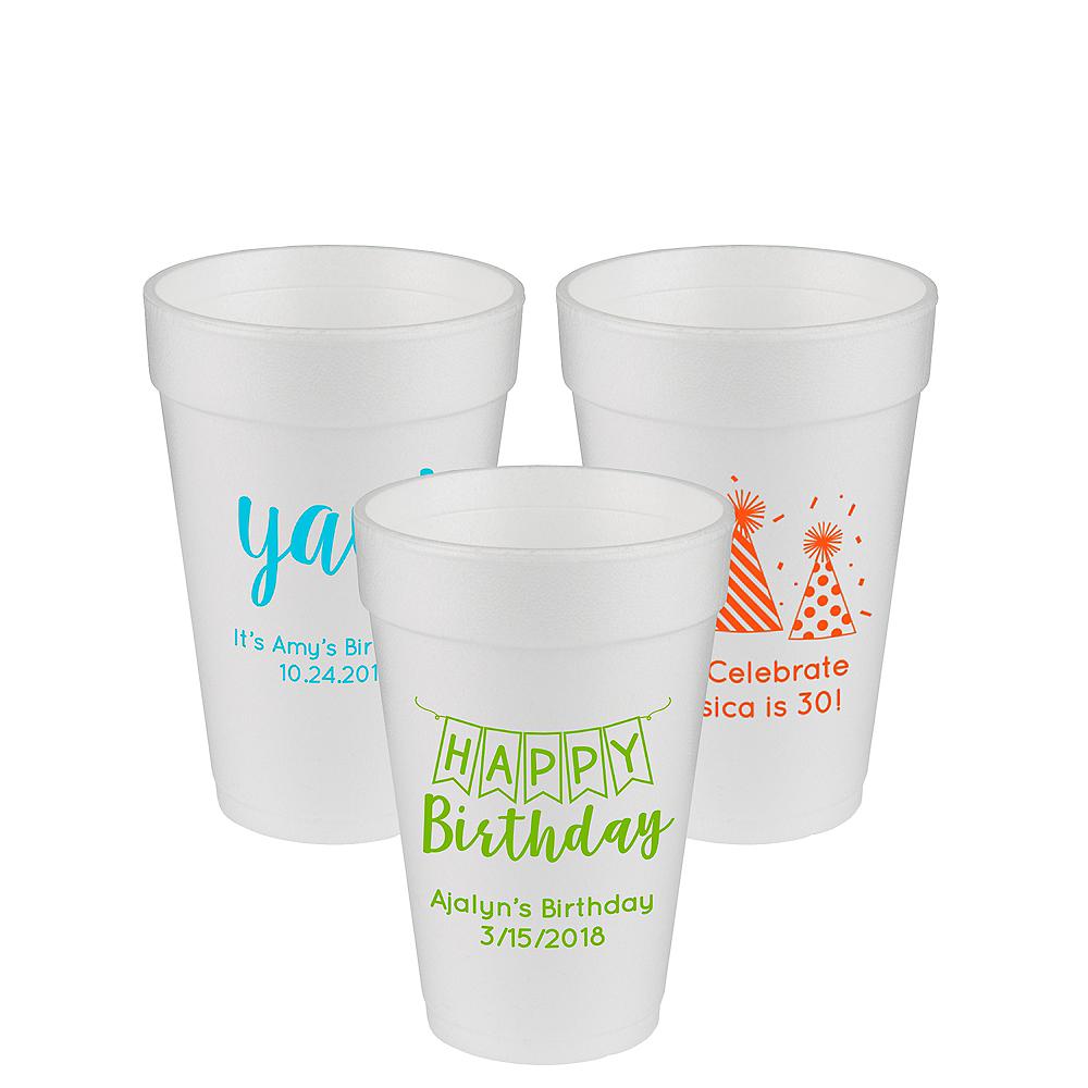 Personalized Birthday Foam Cups 16oz Image #1
