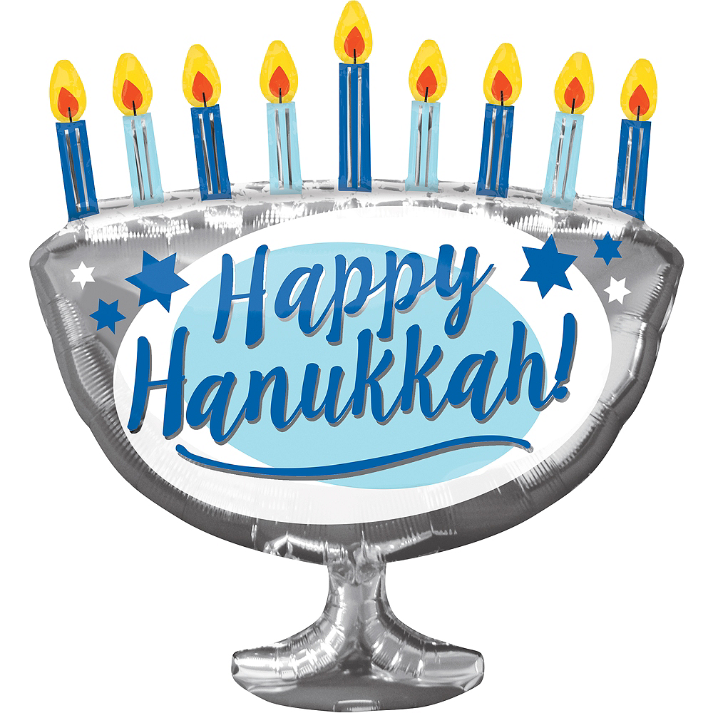 hanukkah menorah balloon 26in x 29in party city