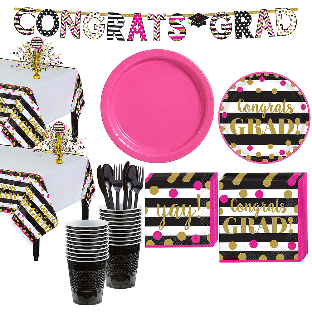 Confetti Graduation Tableware Kit for 18 Guests Image #1