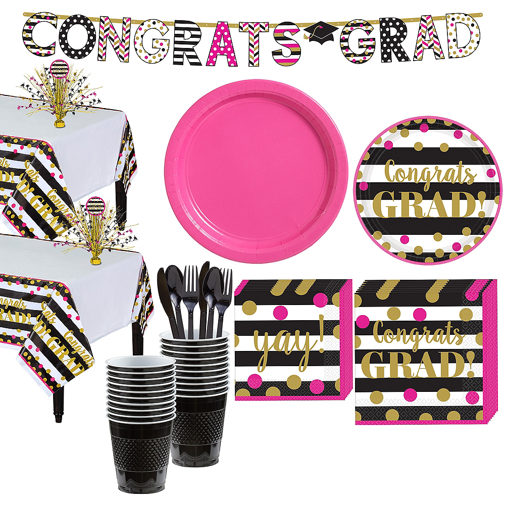 Confetti Graduation Tableware Kit for 36 Guests Image #1