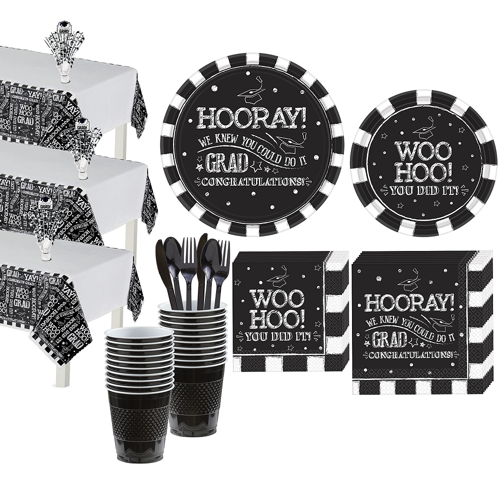 Chalk Hooray Graduation Tableware Kit for 54 Guests Image #1