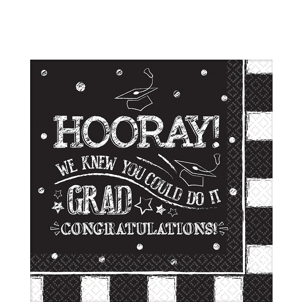Chalk Hooray Graduation Tableware Kit for 54 Guests Image #5