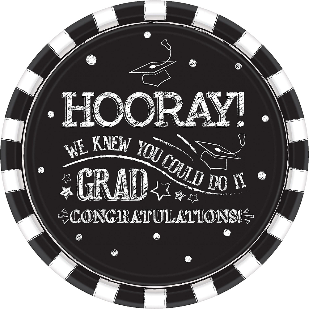Chalk Hooray Graduation Tableware Kit for 36 Guests Image #3