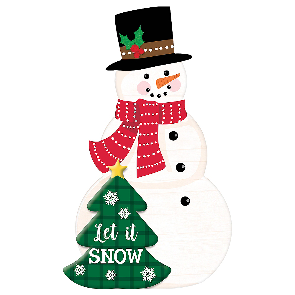 Snowman Easel Sign Image #1