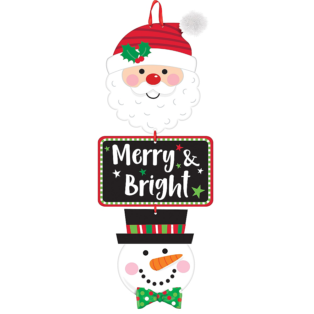 Merry & Bright Stacked Sign Image #1