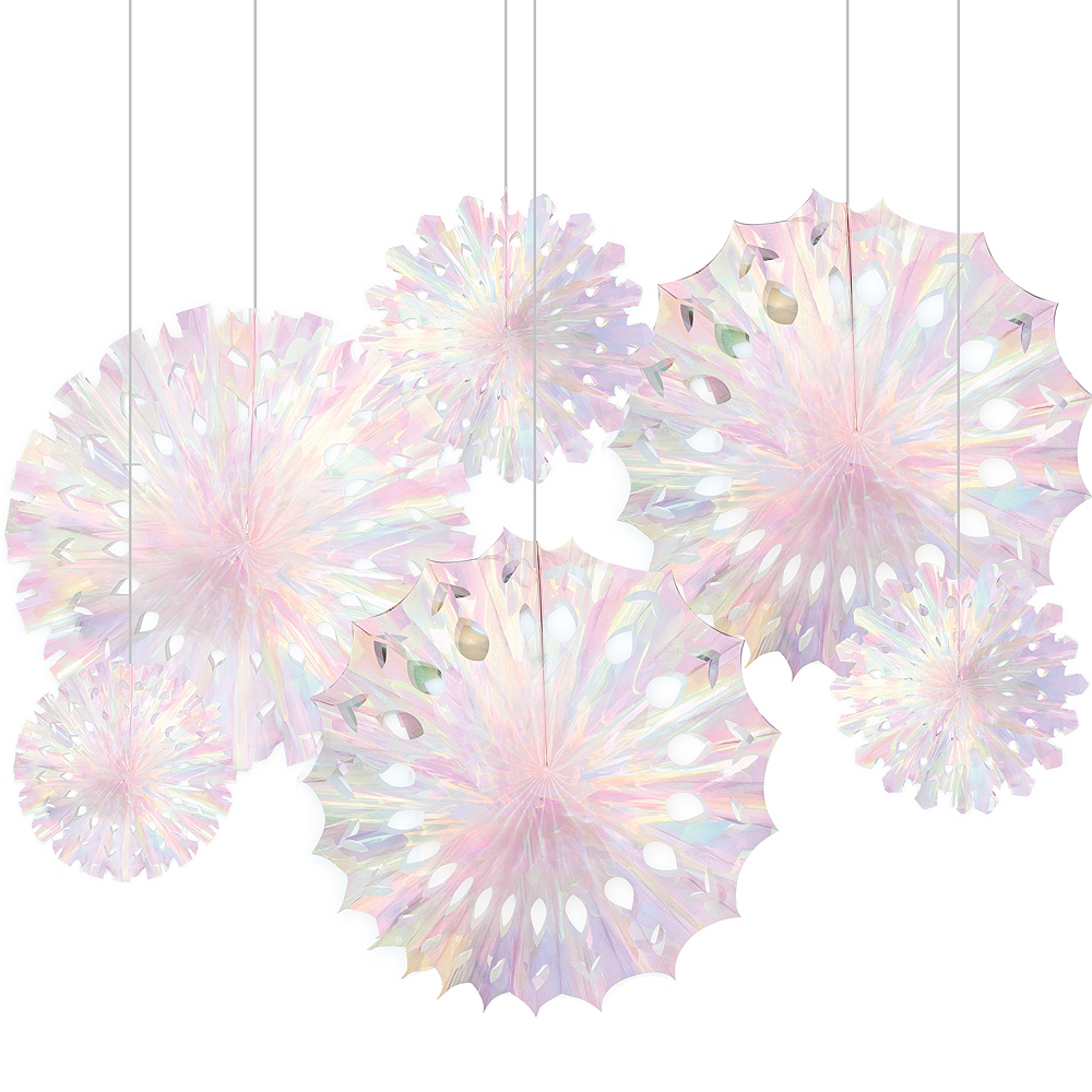 Iridescent Snowflake Decorations 3ct Image #1