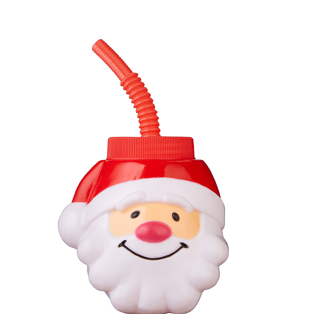 Santa Cup with Straw Image #1