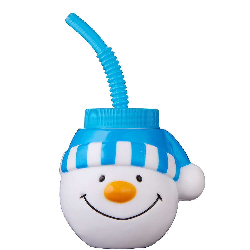 Snowman Cup with Straw Image #1