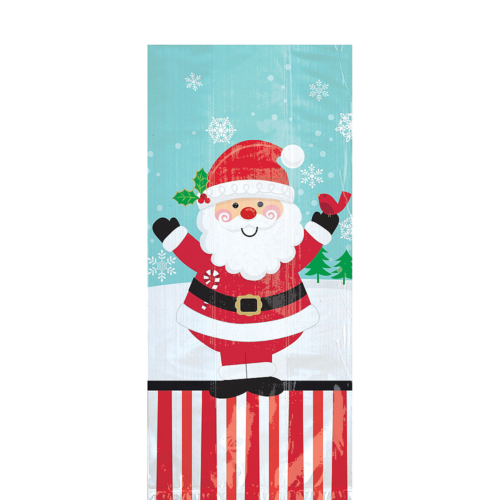 Nav Item for Jolly Santa Treat Bags 20ct Image #1
