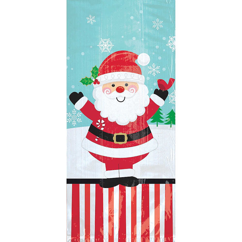 Large Jolly Santa Treat Bags 20ct Image #1