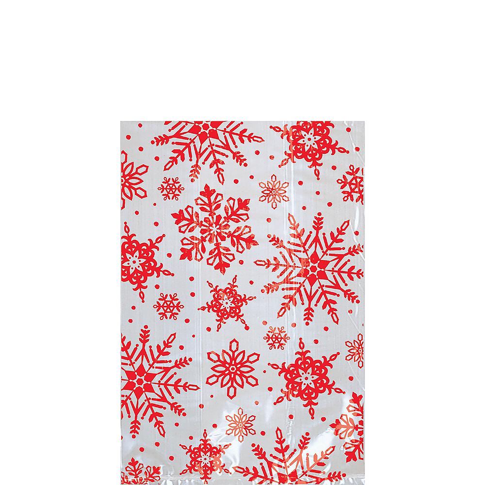 Mini Snowflake Treat Bags 25ct Image #1