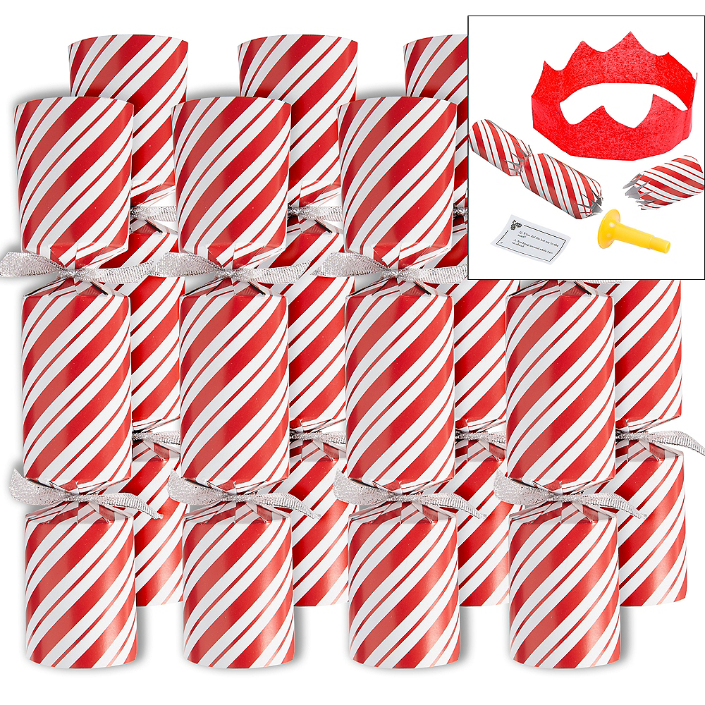 Candy Cane Christmas Crackers 8ct Image #1