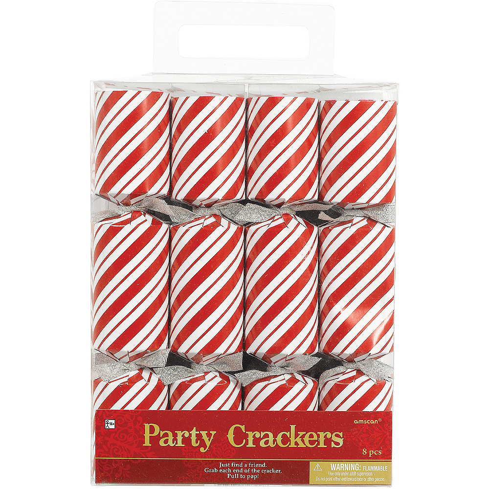 Candy Cane Christmas Crackers 8ct Image #2