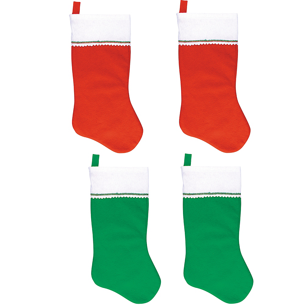 green red christmas stockings 4ct image 1 - Red And Green Christmas Stockings