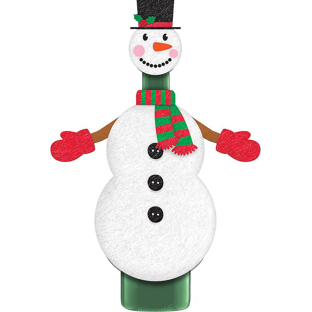Snowman Wine Bottle Cover 2pc Image #1