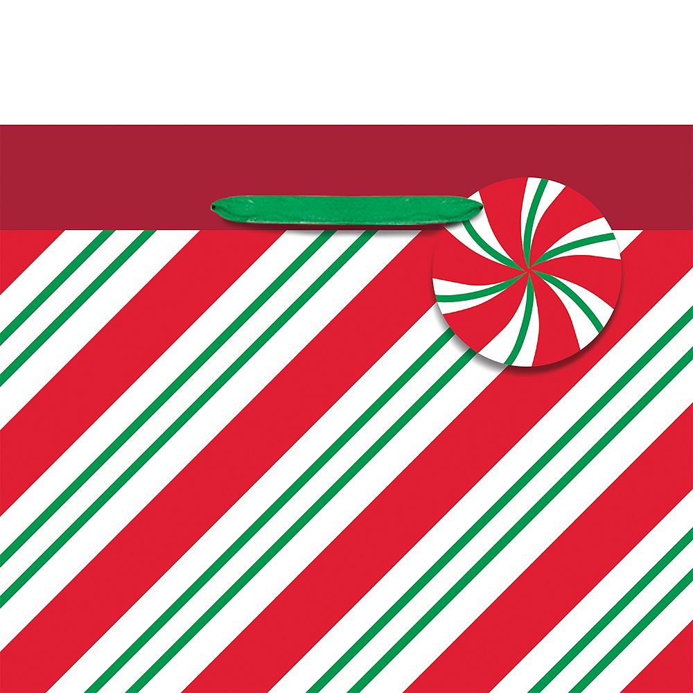 Mini Green & Red Peppermint Gift Bag Image #2