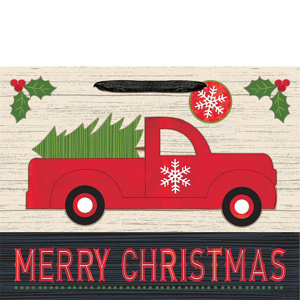 Small Truck Merry Christmas Gift Bag Image #2
