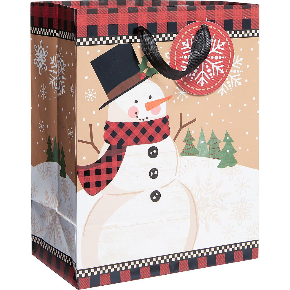 Small Winter Wonder Snowman Gift Bag Image #1