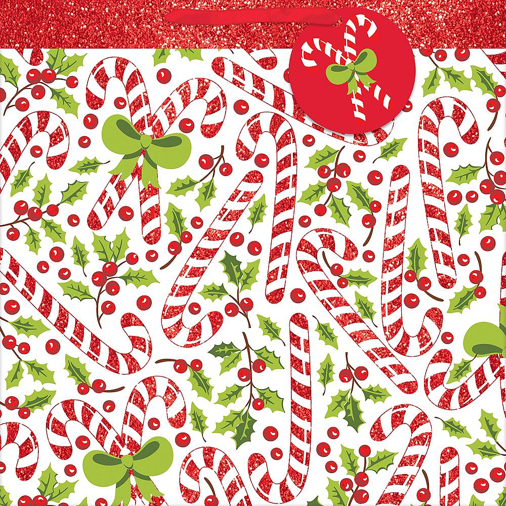 Glitter Candy Cane Christmas Gift Bag Image #2