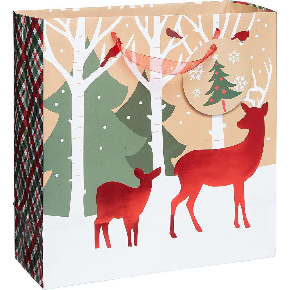 Reindeer Crossing Kraft Gift Bag Image #1