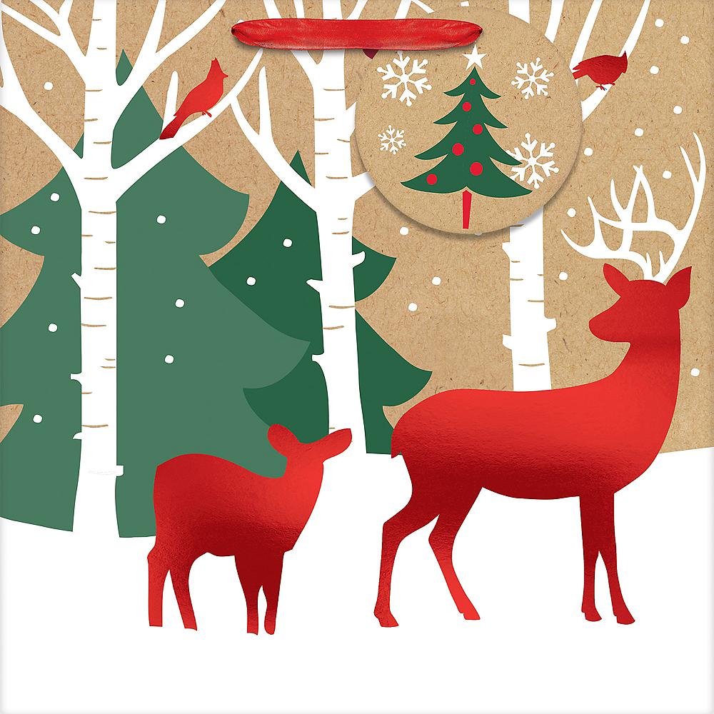 Reindeer Crossing Kraft Gift Bag Image #2