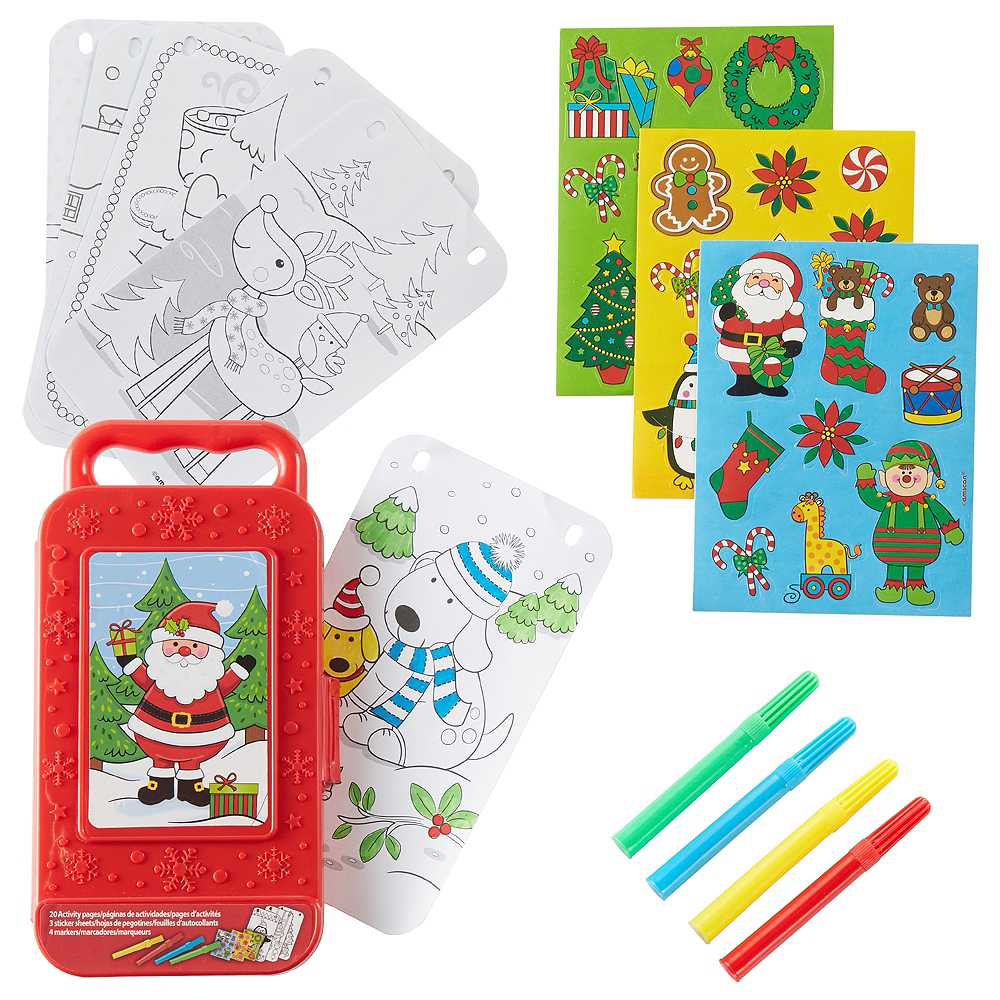 Santa Sticker Activity Box Image #1