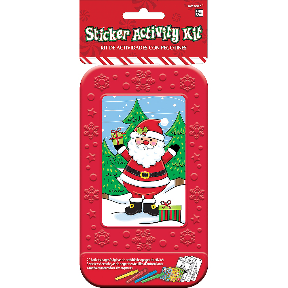 Santa Sticker Activity Box Image #2
