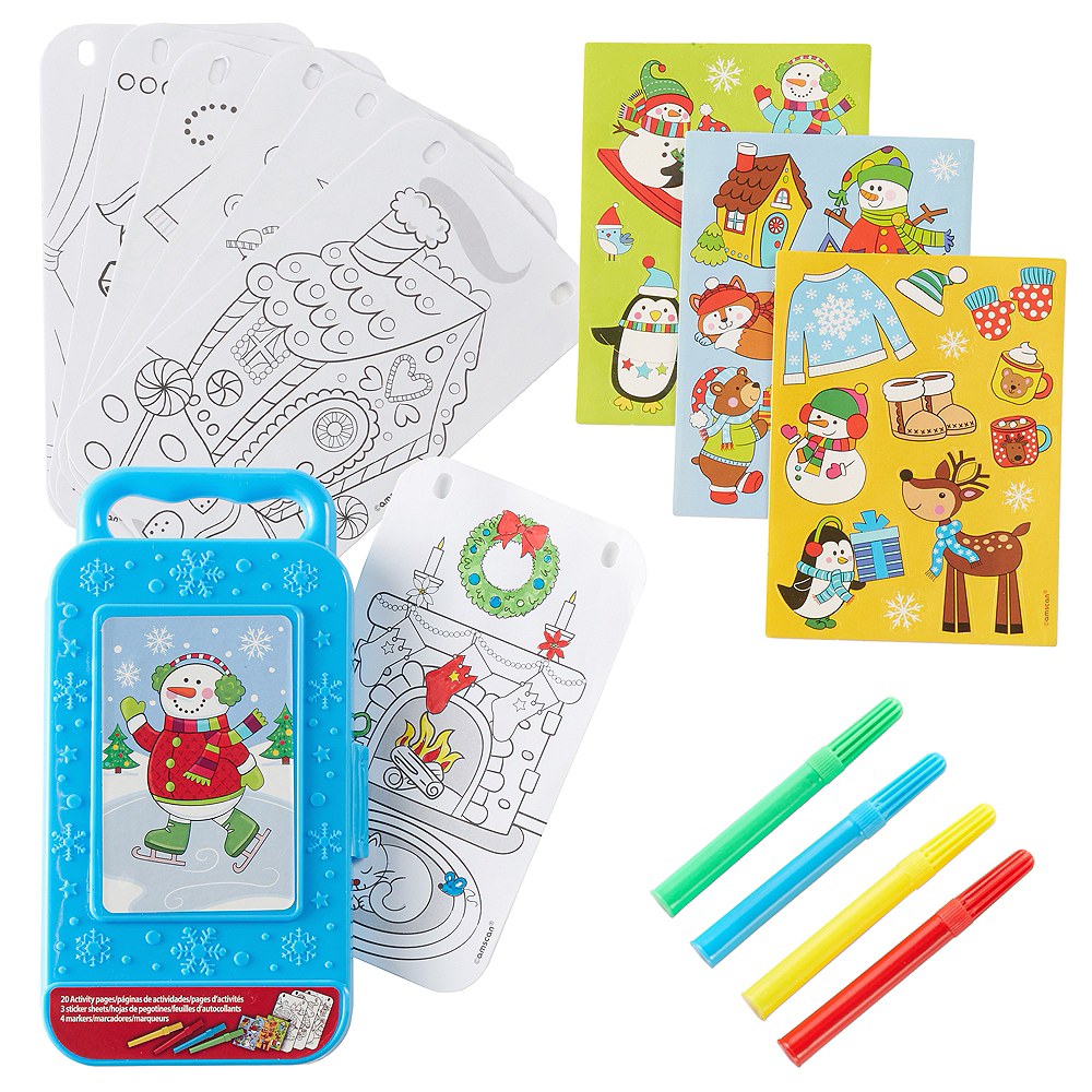 Snowman Sticker Activity Box Image #1