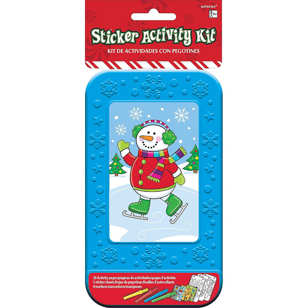 Snowman Sticker Activity Box Image #2