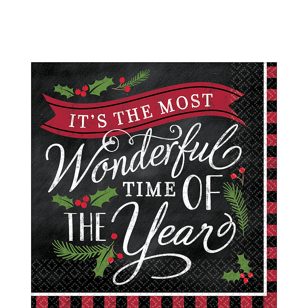 Most Wonderful Time Lunch Napkins 36ct Image #1