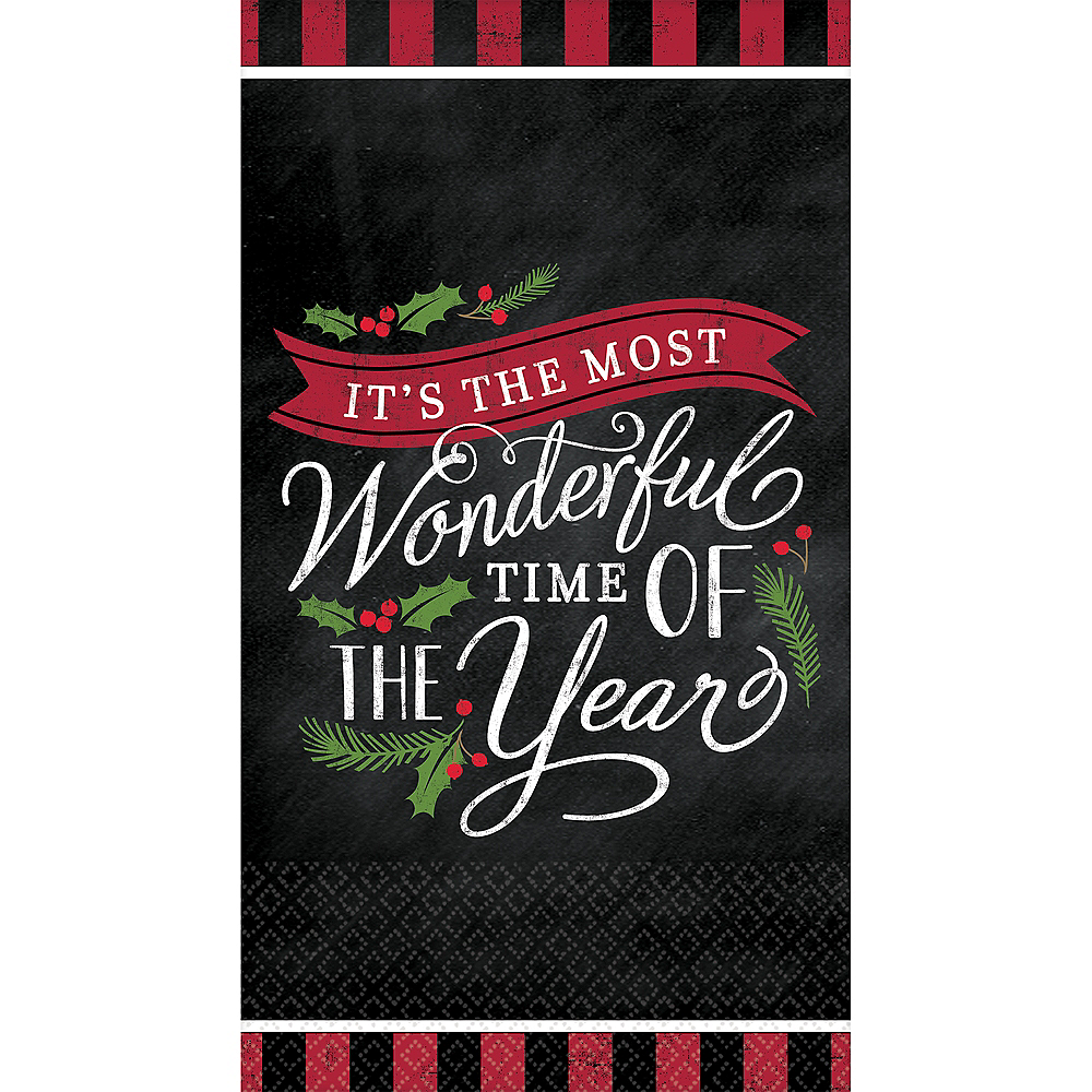 Most Wonderful Time Guest Towels 36ct Image #1